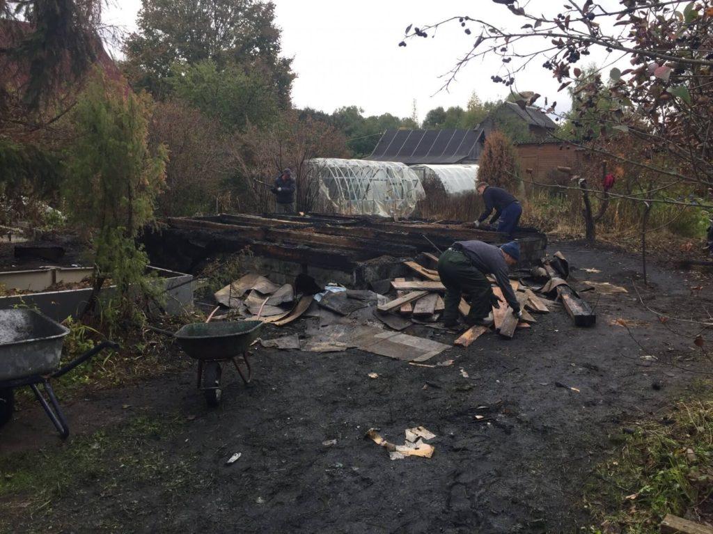 Демонтаж домов после пожара